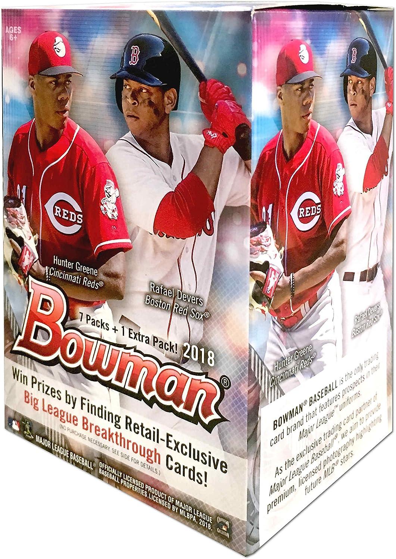 2018 Bowman Baseball Sealed Box Blaster 8 Packs 10 Cards per Pack