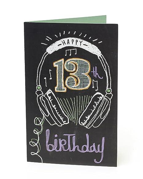 Amazon.com: Edad 13 Auriculares 13th Feliz cumpleaños ...