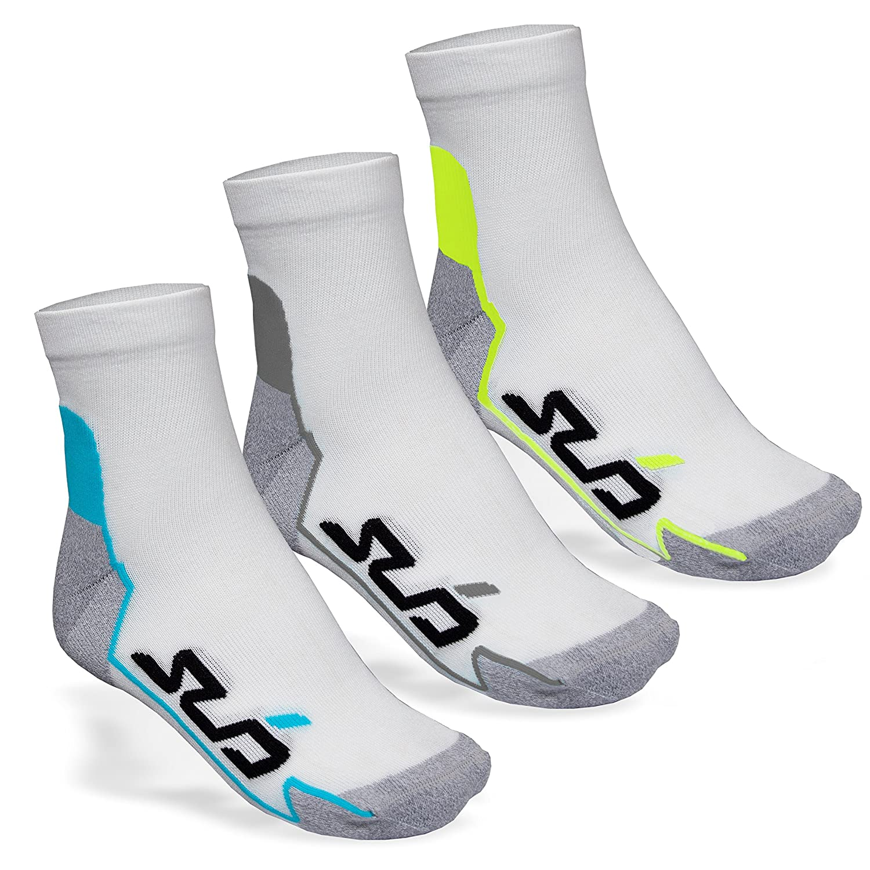 Sub Sports Black Running Ankle Socks 3 Pair Pack Moisture Wicking Seamfree Toe Unen