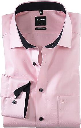 OLYMP Luxor - Camisa de manga larga, color rosa