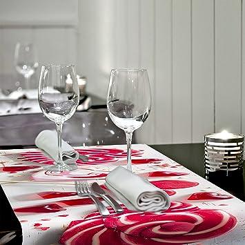 Decomonkey Tischlaufer Vlies 150x50 Cm Tischdecke Valentinstag
