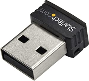 StarTech.com USB 150Mbps Mini Wireless N Network Adapter - 802.11n/g 1T1R Wi-Fi Adapter (USB150WN1X1)