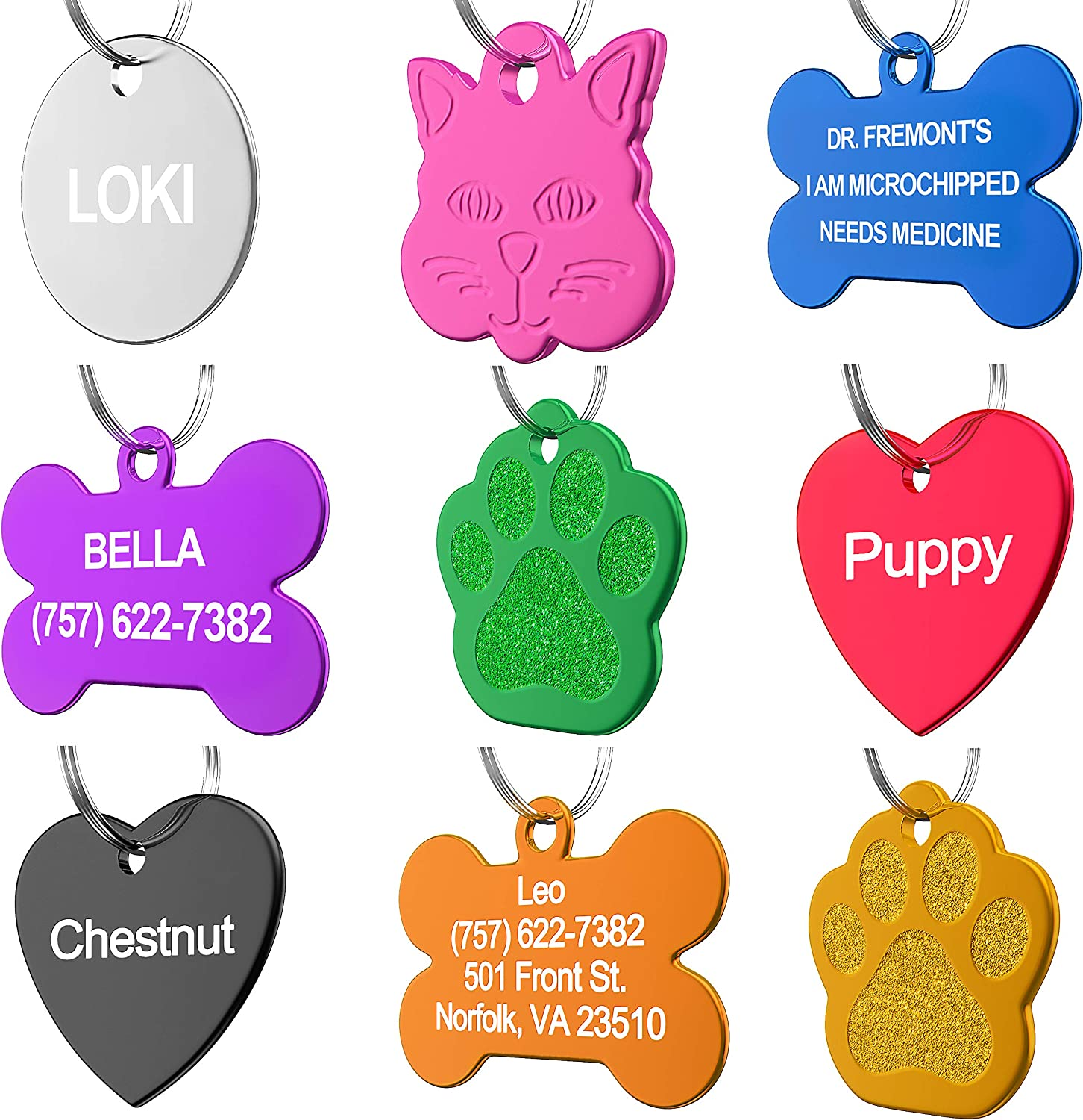 Handmade Engraved Dog Tag Personalized Pet Id Tag