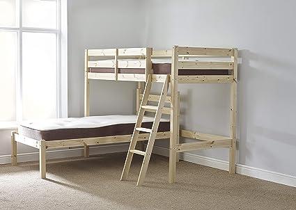 L Shaped 3ft Bunkbed Wooden Lshaped Bunk Bed For Kids Fast