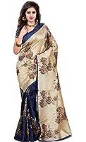 Trendz Women's Cotton Silk Saree With Blouse Piece (Tz_Sunflower_Cream)