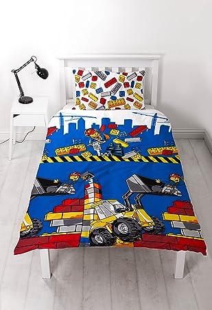 Amazon.com: LEGO City 'Demolition' Single Duvet Set - Repeat Print ...