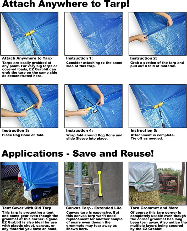 LARGE PACK 40Pc QUALITY REUSABLE TARPAULIN CLIP Durable Camping Cover Attachment