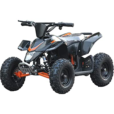 Fit Right 2020 Sahara Kids 24V Mini Quad ATV, Dirt Motor Electric Four Wheeler Parental Speed Control, with 350W Motor Power Reserve, Large Tires & Wide Suspension (Black Orange): Sports & Outdoors