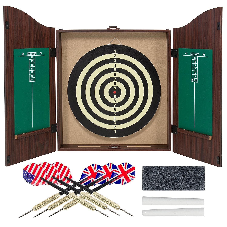 Amazon.com : Gameroom Dartboard Cabinet Set With Realistic Walnut Finish :  Sports U0026 Outdoors