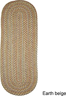 product image for Rhody Rug Cozy Cove Indoor/Outdoor Oval Braided Runner (2' x 8') - 2' x 8' Runner Beige