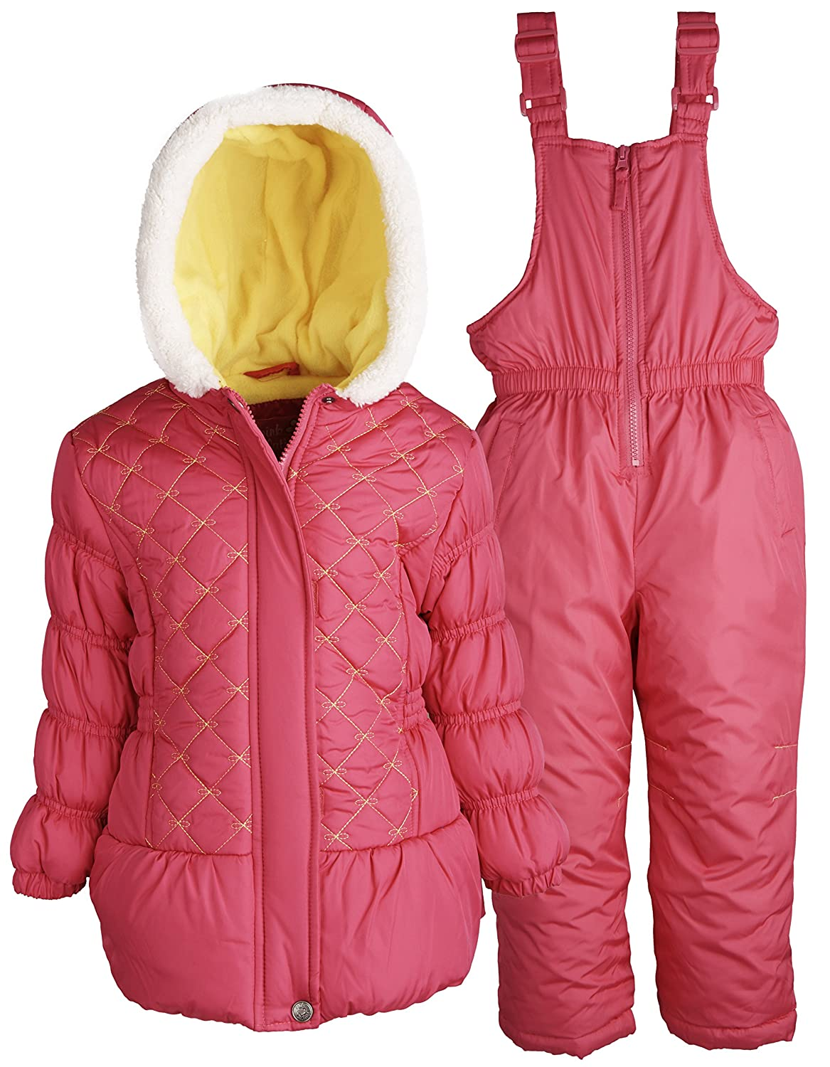 306263404 Amazon.com  Pink Platinum Girls and Baby Snowboard Puffer Jacket and ...