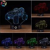3D Optical Illusion Night Light - 7 LED Color