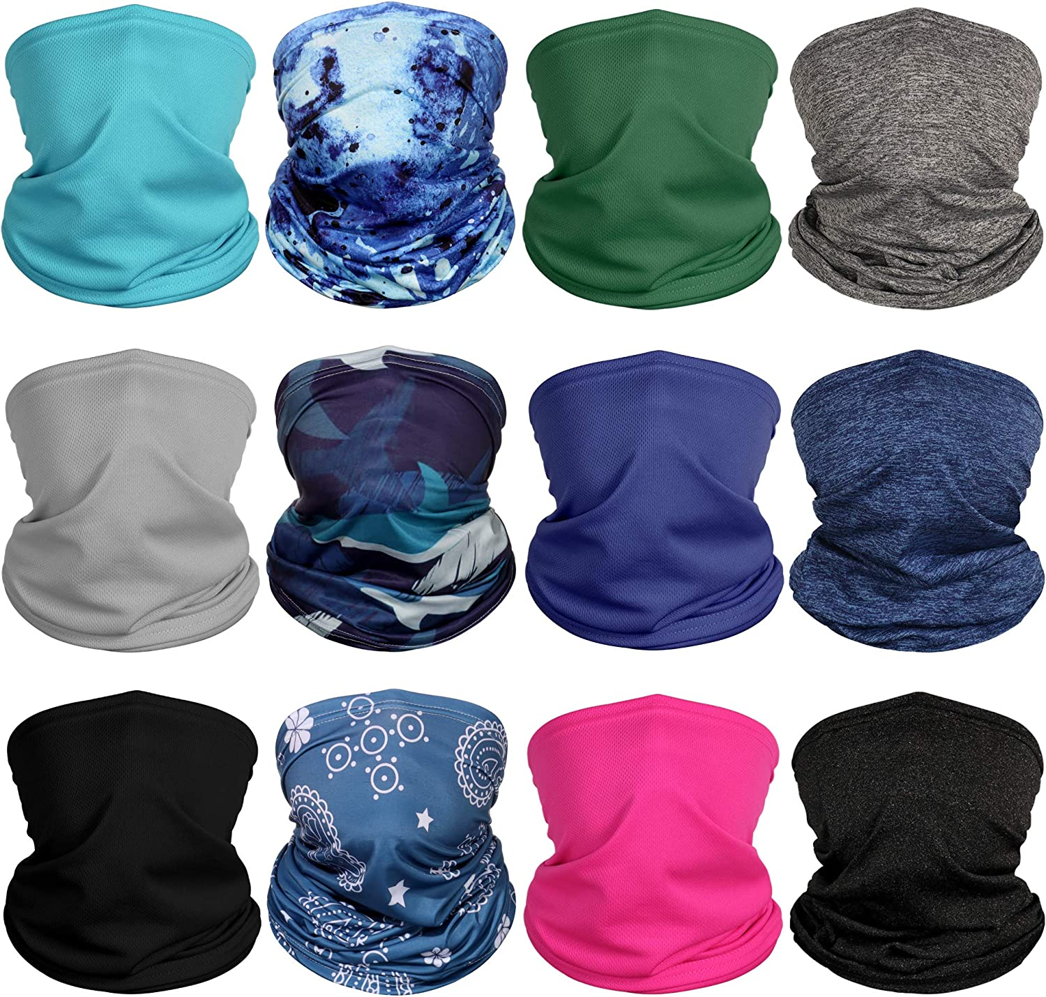Face Neck Tube Scarf Neck Cover Scarf Sun UV Protection Scarves Supply