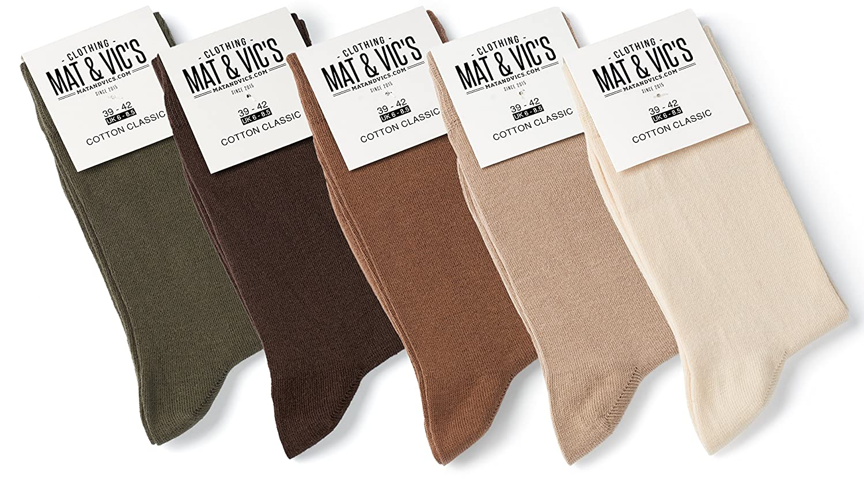 Mat and Vic's Cotton Classic Socken, 5 Paar ISCMVSO01