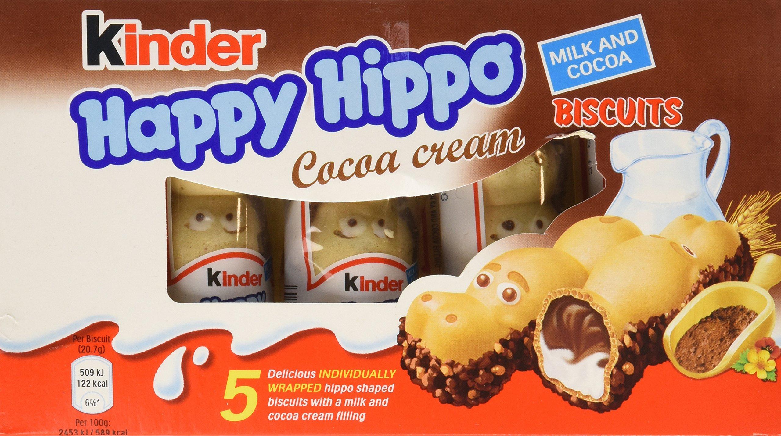 Kinder Happy Hippo - Cocoa, CASE, 10x(20.7g x 5) by Ferrero