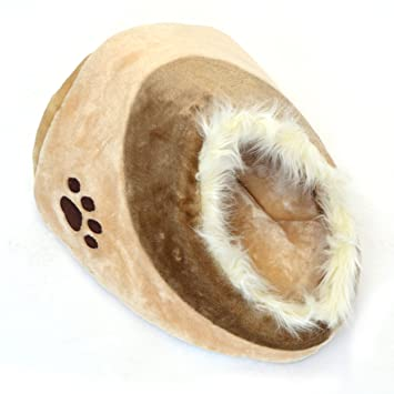 LovePet Guarida refugio para gatos Chou Chou, Cama para gatos y perros pequeños,40 x 38 x 26 cm, beige: Amazon.es: Hogar