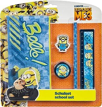 Undercover Schulset Minions 5-teilig Schreibset Bleistift Schulbedarf