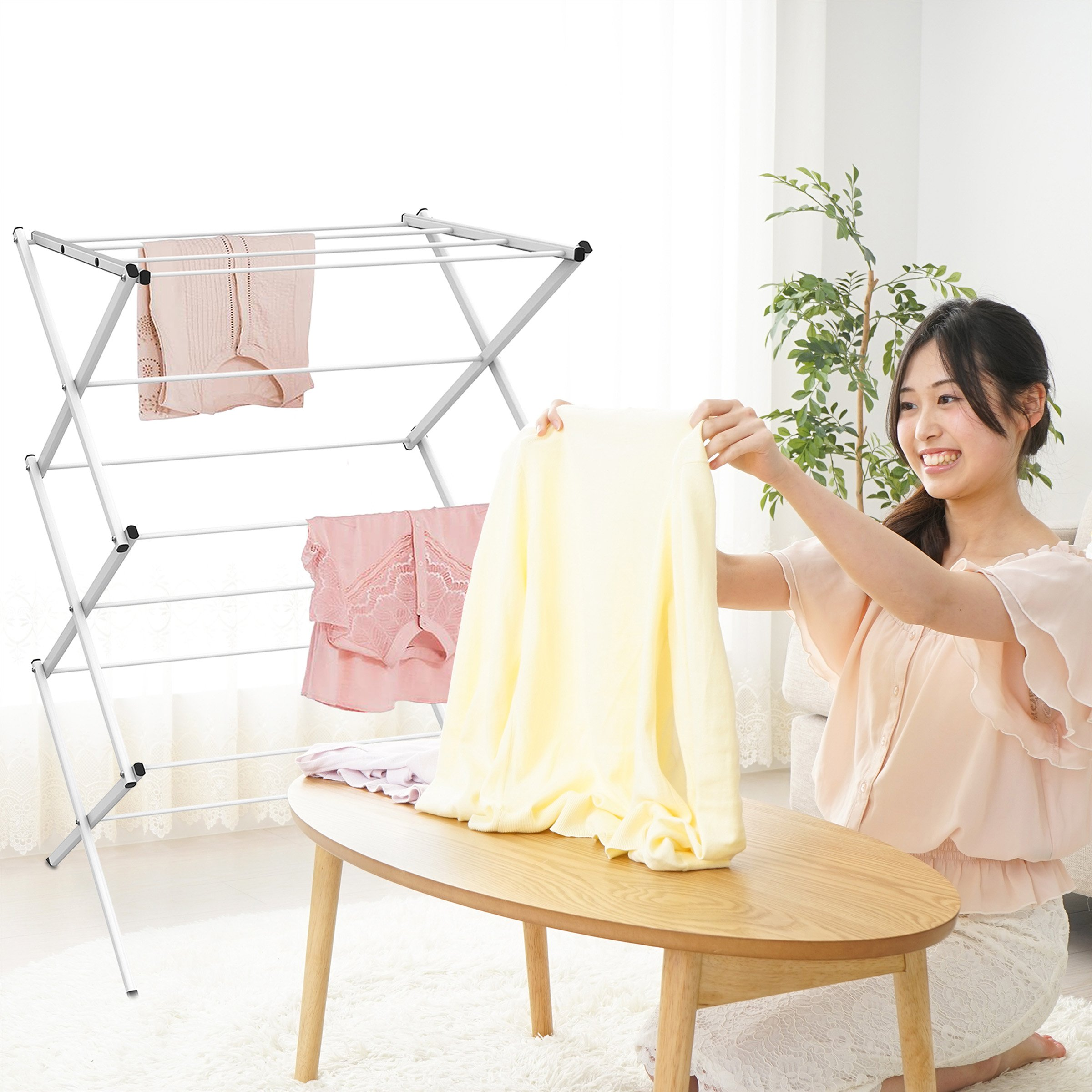 Lavish Home Clothes Drying Rack-24ft. of Drying Space-Collapsible and Compact for Indoor/Outdoor Use-Portable Stand for Hanging, Air-Drying Laundry by Lavish Home (Image #5)