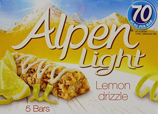 Alpen light lemon drizzle bars 5 x 19 g pack of 5 amazon alpen light lemon drizzle bars 5 x 19 g pack of 5 aloadofball Image collections