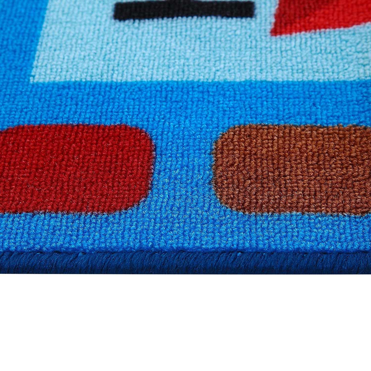 JACKSON Large50 x66 Collection ABC Fun Kids Rugs Numbers and Shapes Educational Classroom Rug for Playroom,Classroom and Kidroom,Safety and Fun Alphabet Rug Learning Carpet for Boys and Girls zimu-1.52