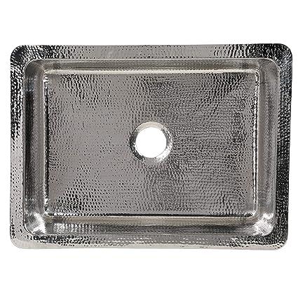 Hammered Stainless Sink - 16 Gauge Stainless Steel - Artisan Crafted Single  Bowl Kitchen Sinks (Undermount 33\