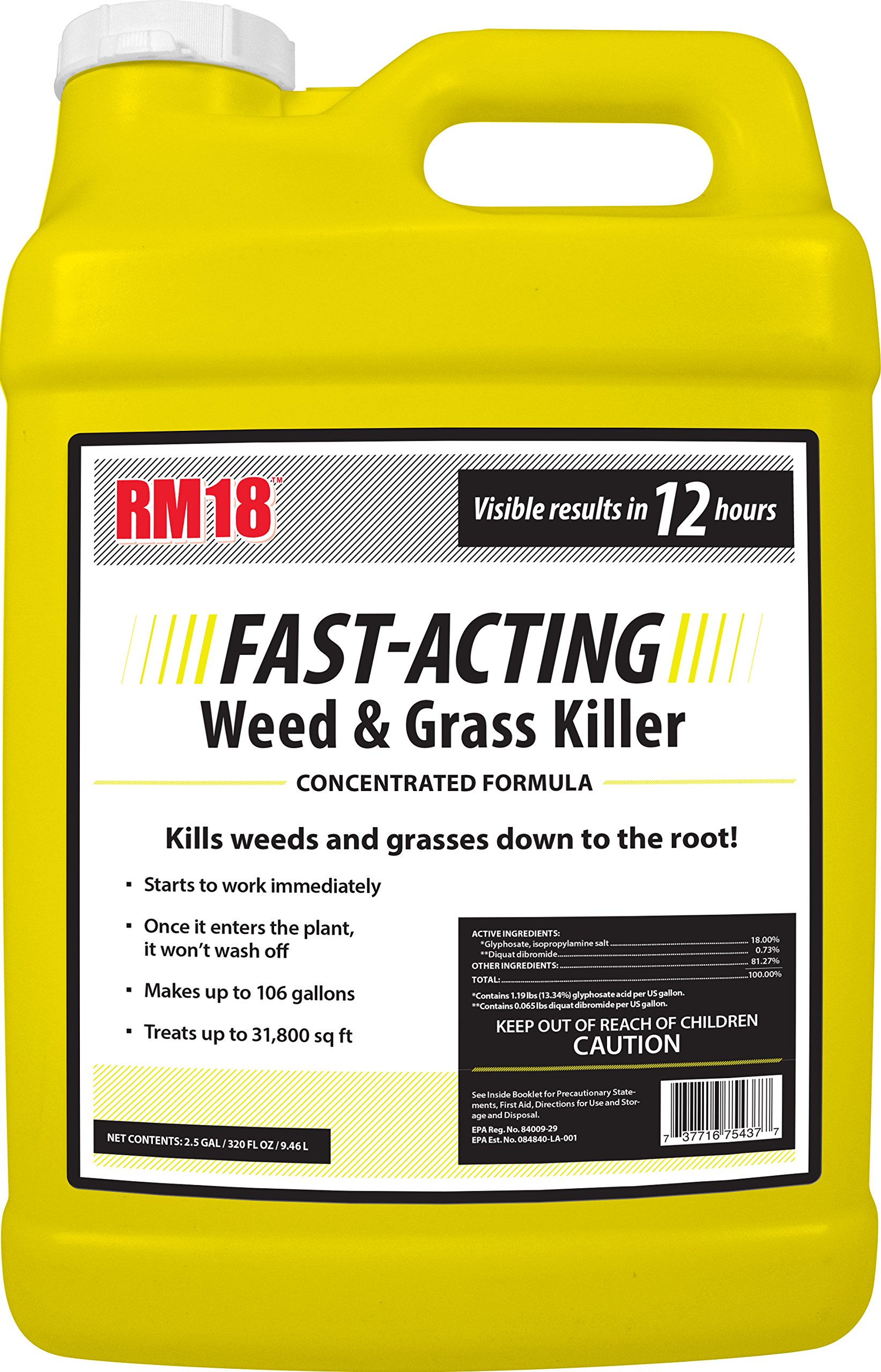 RM18 Fast-Acting Weed & Grass Killer Herbicide, 2.5-gallon