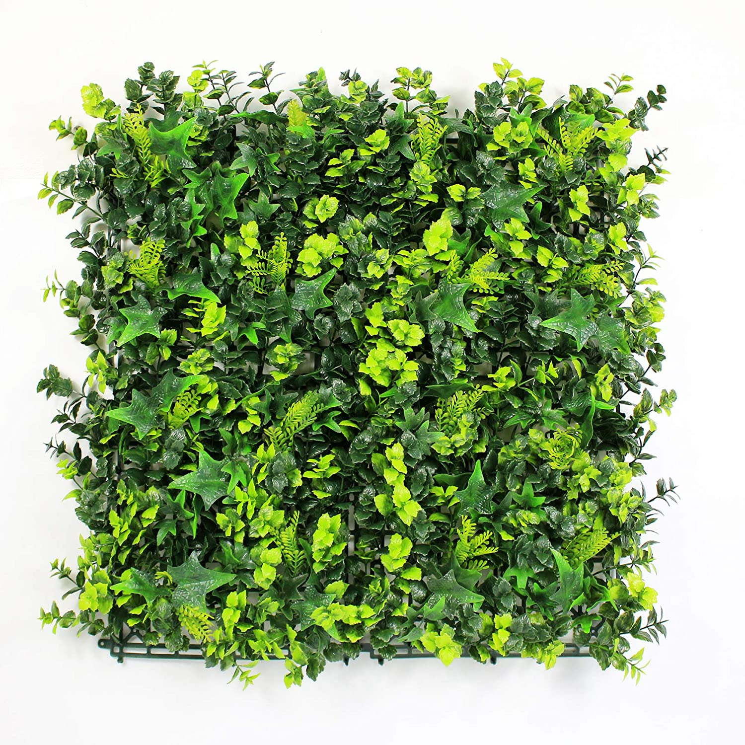 Indoor Greenery Decoration ULAND Artificial Boxwood Panels Plastic Greenery Ivy Mat one Piece 10x10