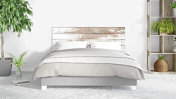 Cabecero Cama PVC Impresión Digital sin Relieve Imitación Madera 135 x 60 cm | Disponible en Varias Medidas | Cabecero Ligero, Elegante, Resistente y ...