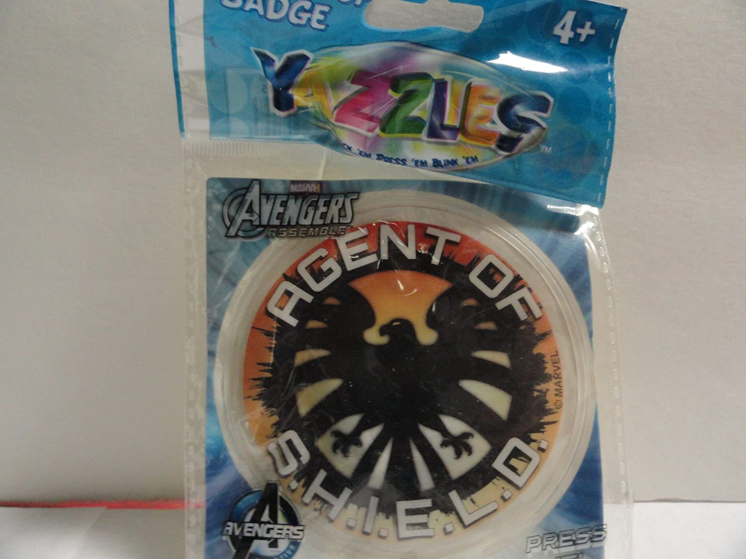 Yazzles Light up Badge Press It Avengers Agent of S.H.I.E.L.D.