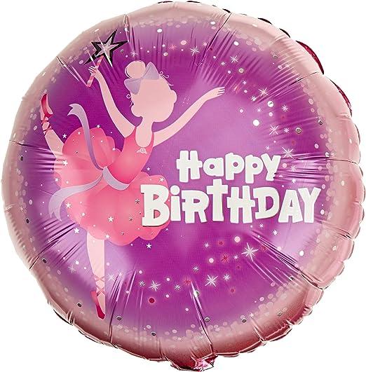 "Amazon.com: Feliz Cumpleaños Bailarina Qualatex 18"" ..."