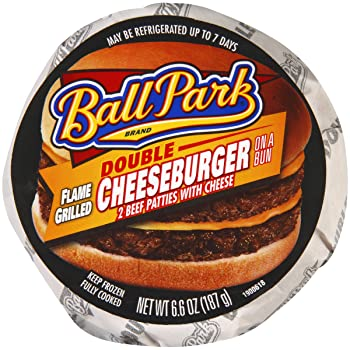 Ballpark Double Cheese Frozen Burger