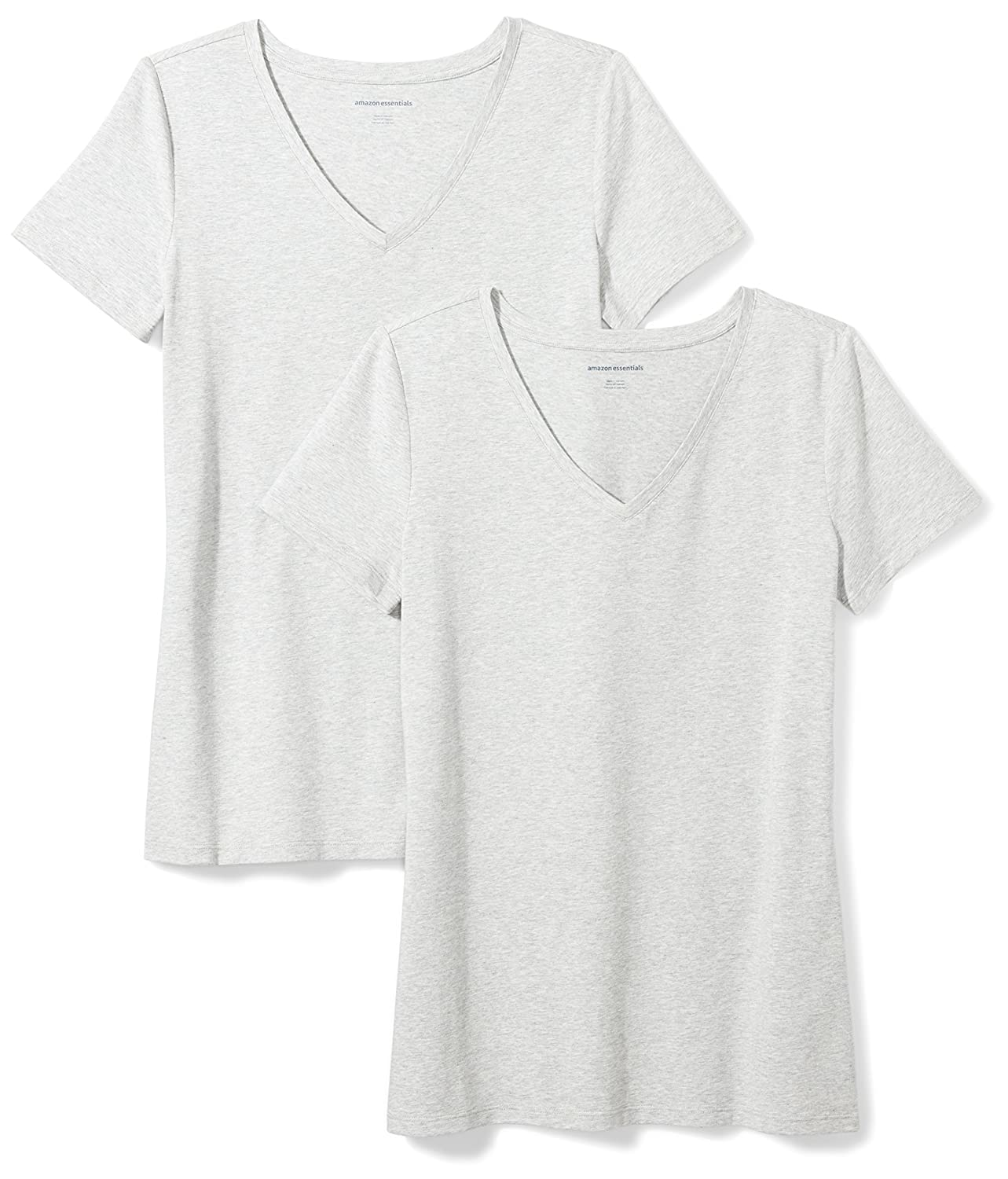 Amazon Essentials Womens Standard 2-Pack Short-Sleeve V-Neck Solid T-Shirt WAE45055SP18