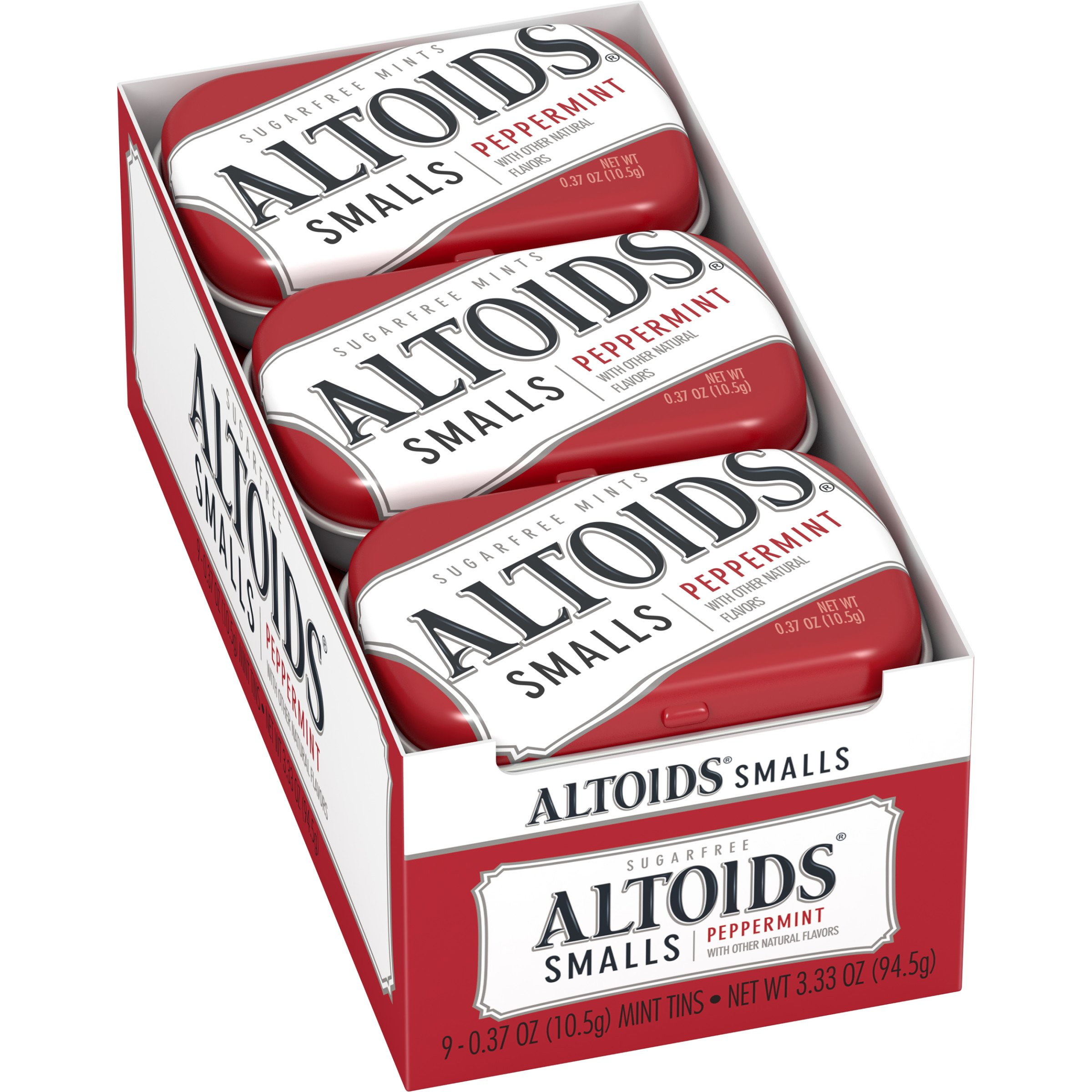 Altoids Smalls Peppermint Sugarfree Mints, 0.37 Ounce, 9 Count
