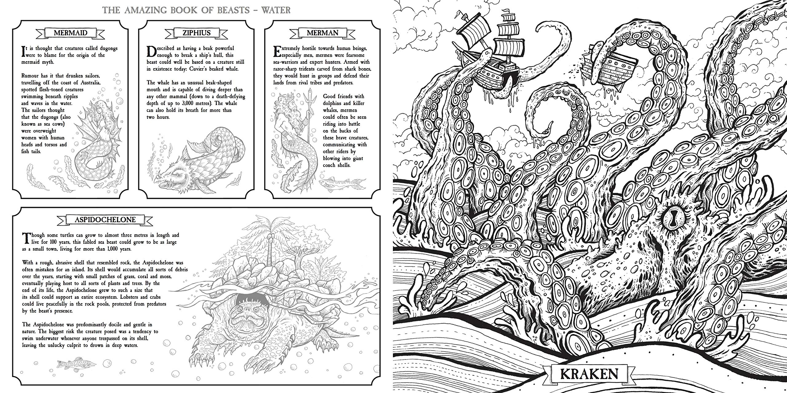 Kraken Coloring Pages - Coloring Pages Kids 2019   1280x2560