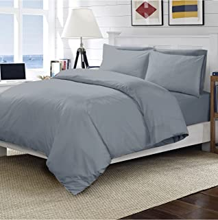 4FT Small Double, Black Ridas Bedding Plain Everday Pollycotton Fitted Sheet