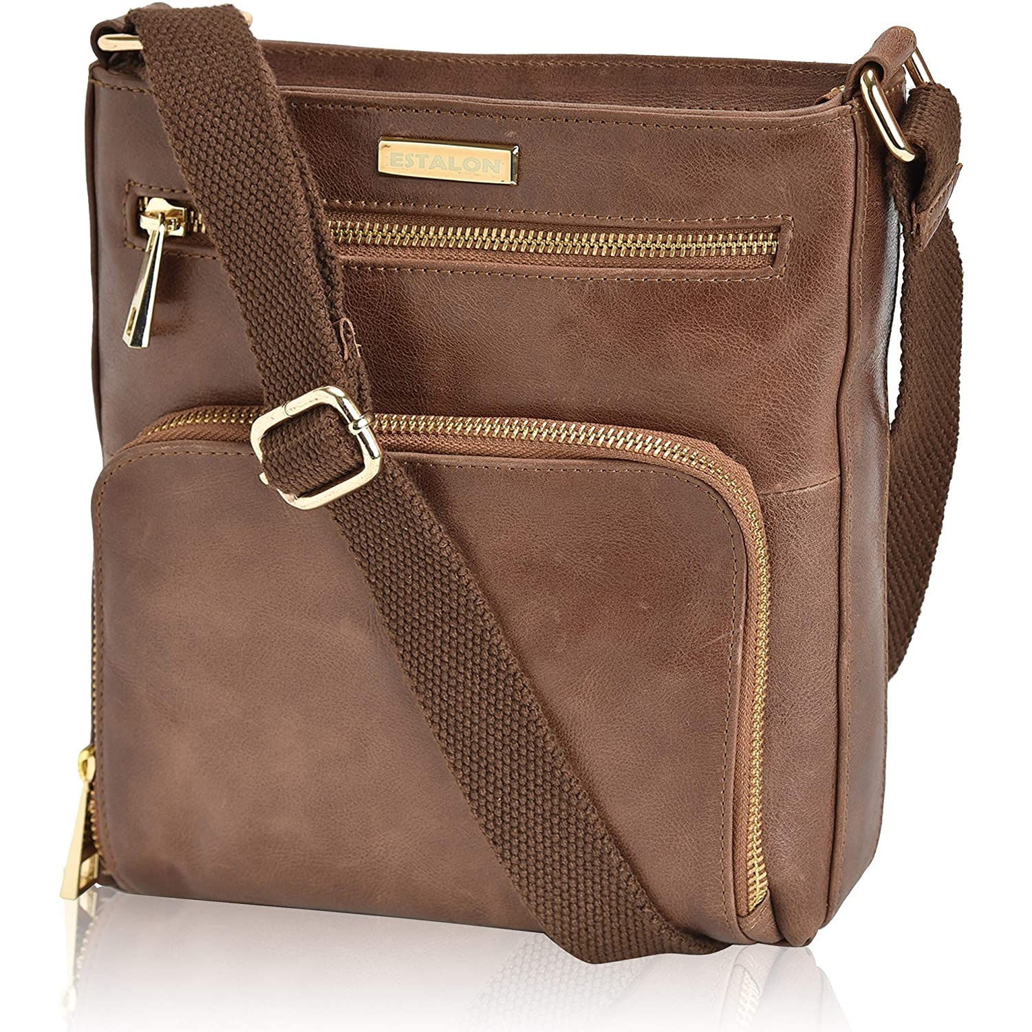 c71c91446ea Details about Leather Crossbody Purses and Handbags for Women-Premium  Crossover Bag Over the