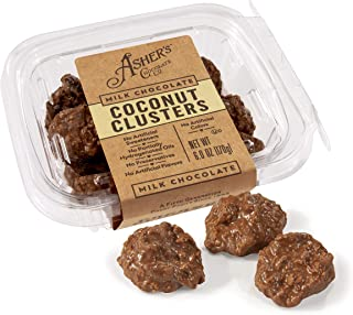 product image for Asher's Chocolates, Gourmet Chocolate Covered Clusters, Small Batches of Kosher Chocolate, Family Owned Since 1892 (Milk Chocolate, Coconut Clusters)