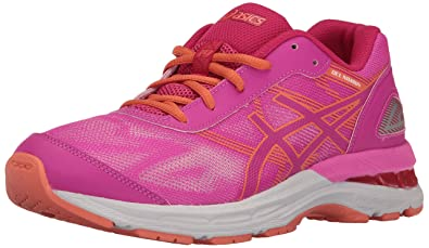 ASICS Girls' Gel-Nimbus 19 GS Running Shoe, Pink Glow/Coral Pink