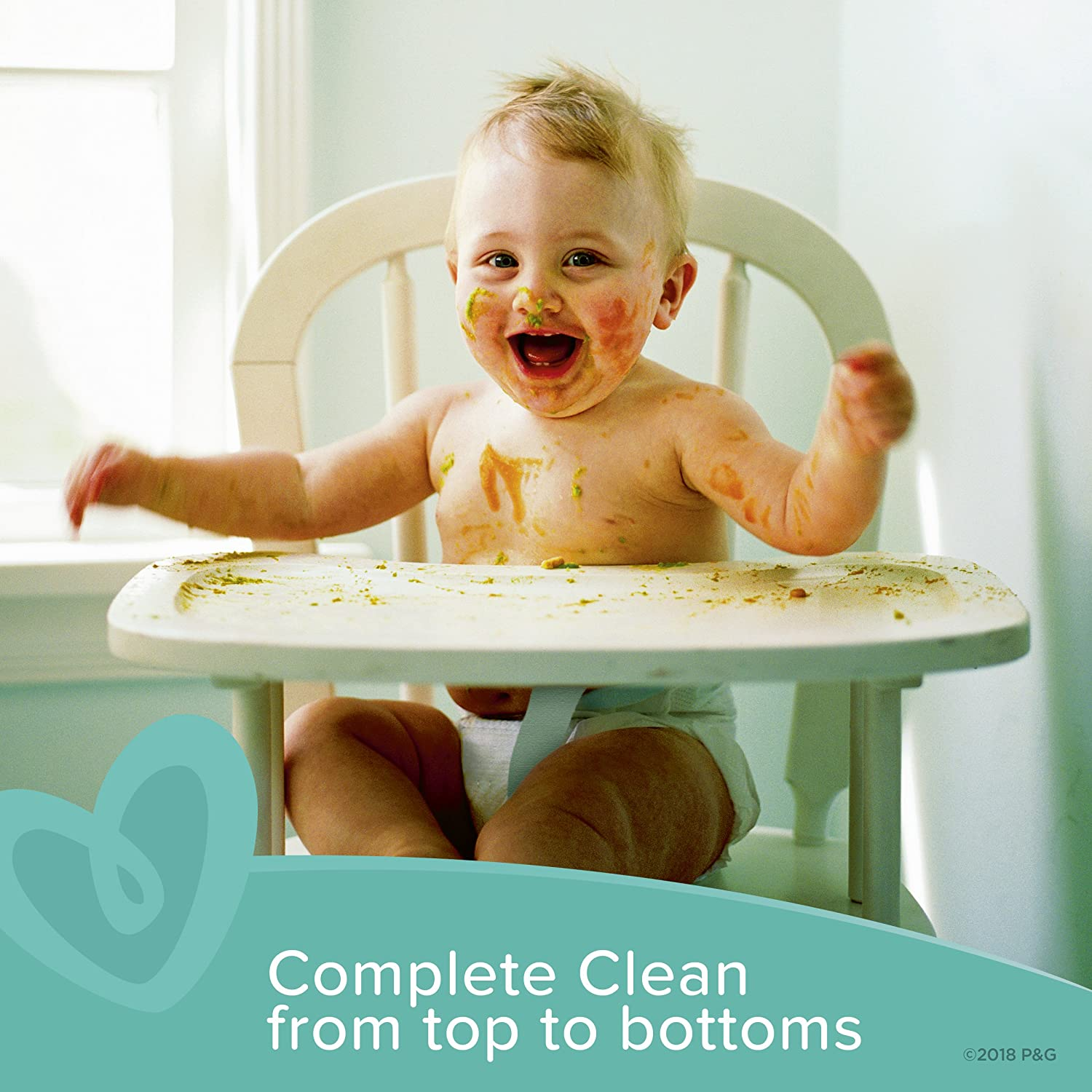 504 Count Pampers Baby Wipes Complete Clean Scented 7X Pop-Top Packs