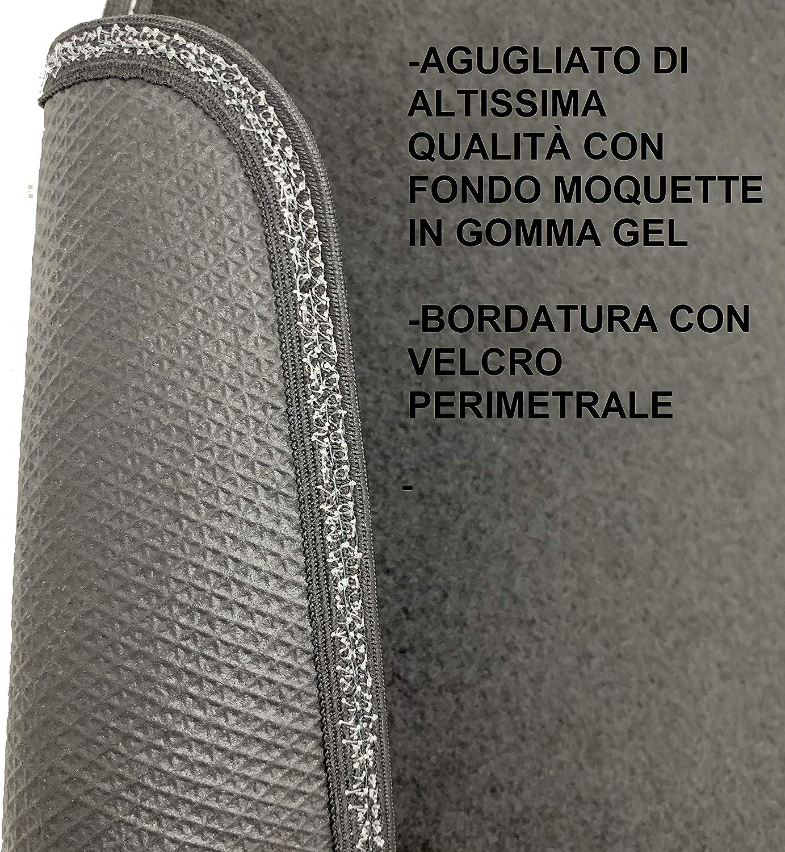 battitacco in PVC, Antiscivolo MTC Tappetini per Ford Fusion Restyling dal 2005 al 2008 Fix Ovale su Misura