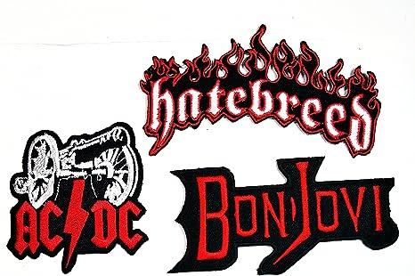 Juego de 3 piezas de parches de banda musical ACDC Bon Jovi ...