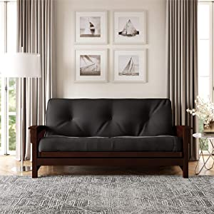 DHP 8-Inch Independently Encased Coil Futon Mattress, Full Size, Gray, Frame Not Included