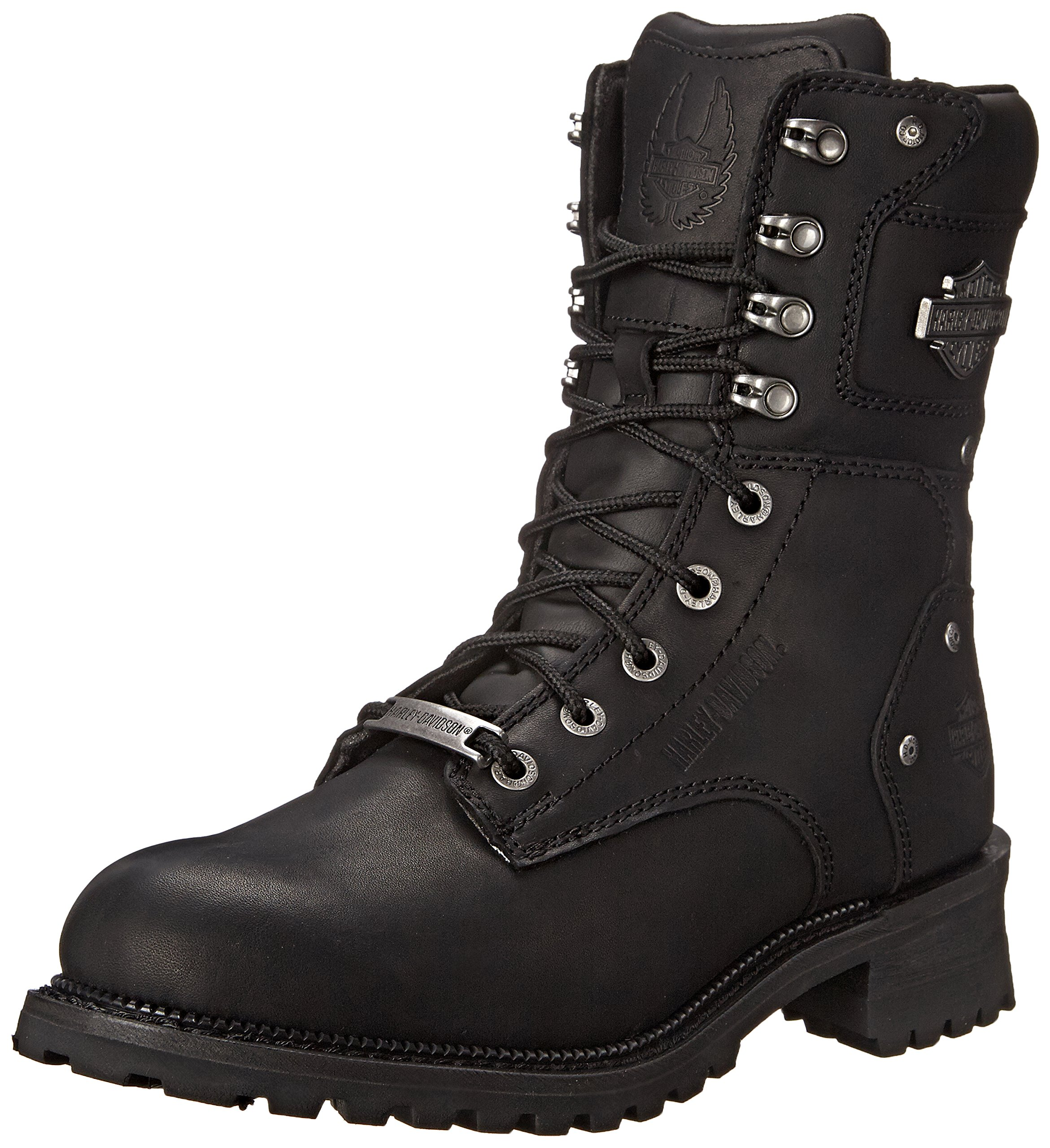 Harley-Davidson Men's Elson Motorcycle Logger Boot, Black, 10.5 M US