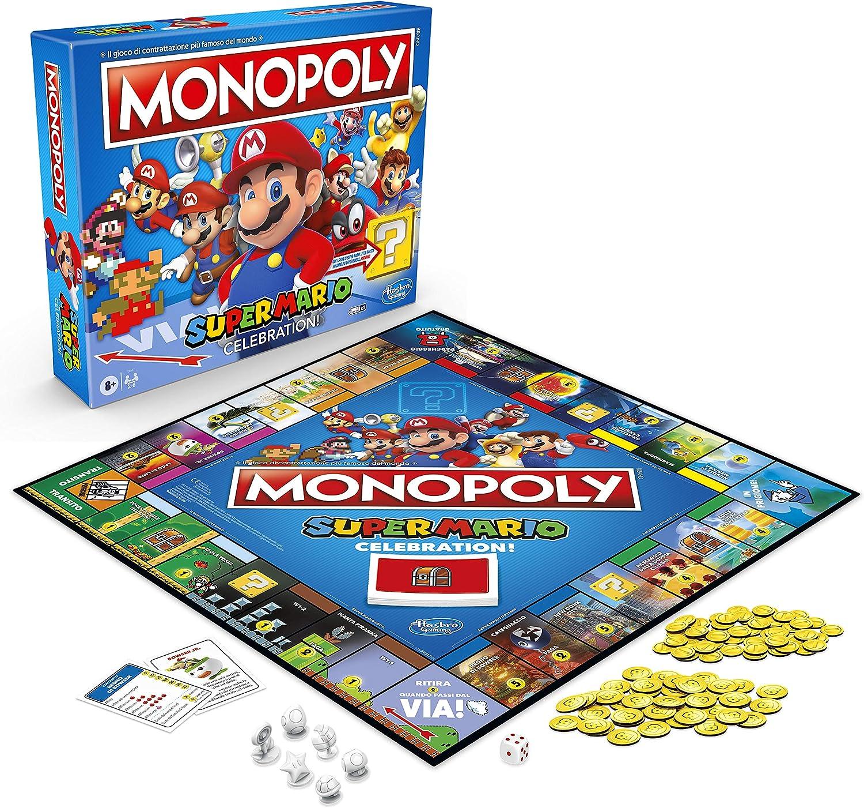 Monopoli SuperMario - gioco in scatola, edizione super mario celebration