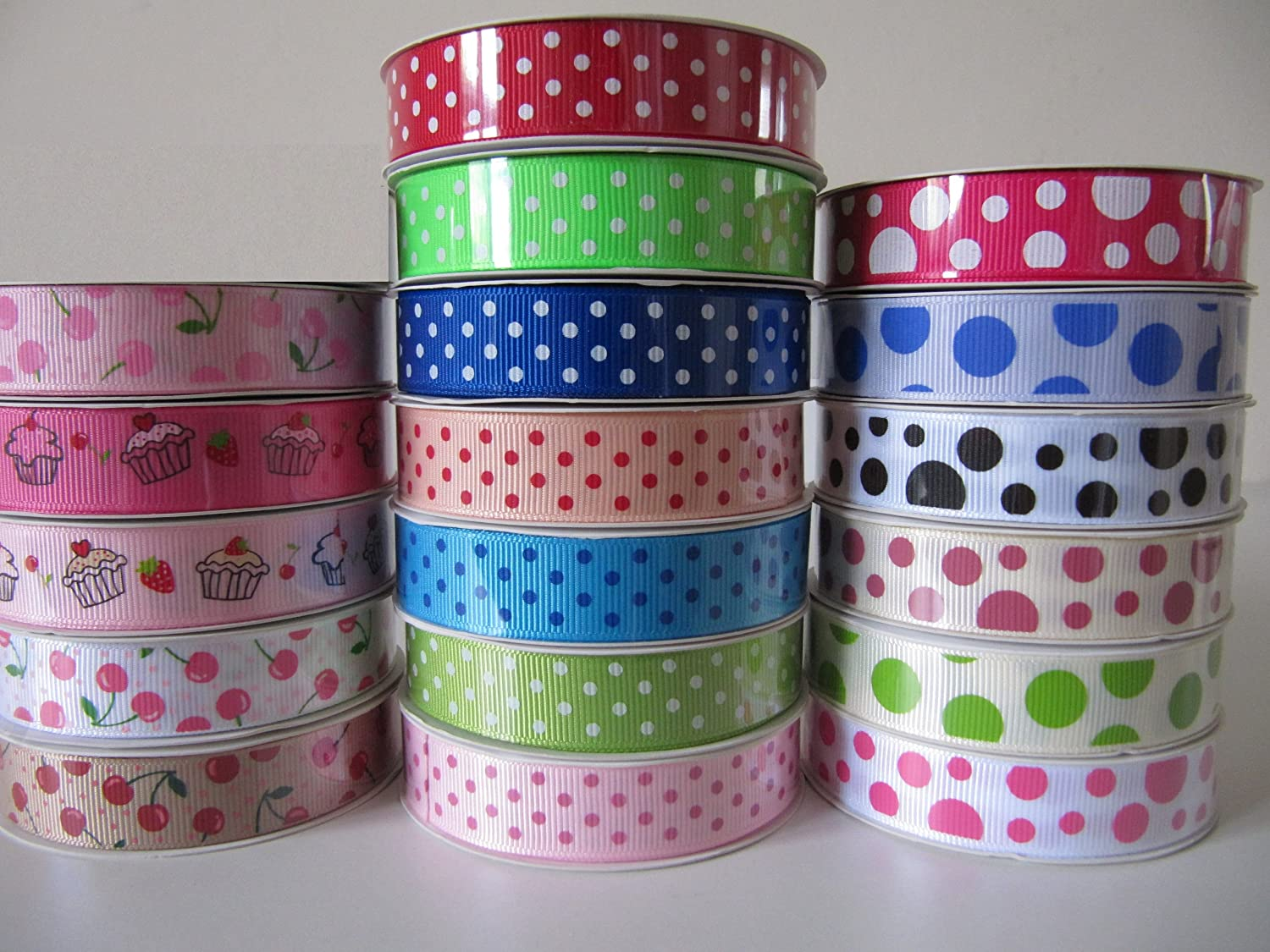 Gingham Ribbon 16mm Approx 1 metre length each Pack of 4 Colours