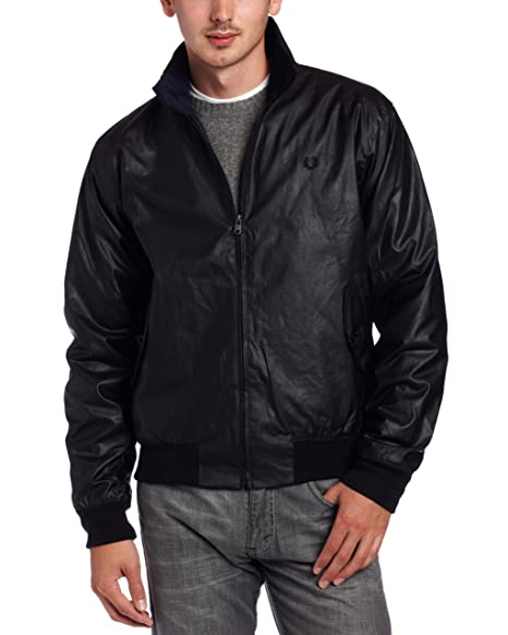 valtava alennus uusi aito Aika siistiä Fred Perry Men's Wax Harrington Jacket, Dark Navy, Large ...