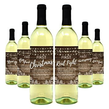 wine bottle labels for wedding gift milestones bridal shower engagement party bachelorette