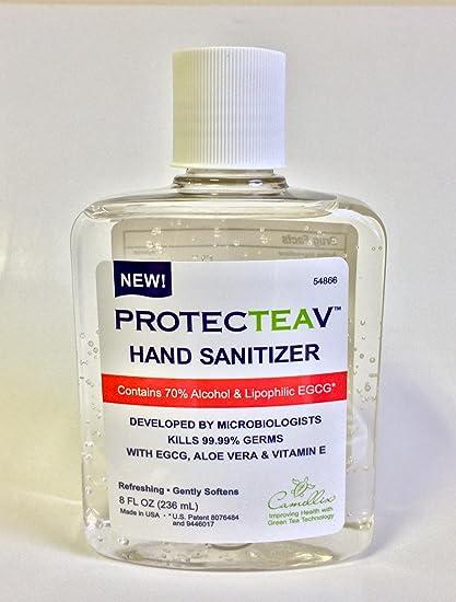 Amazon Com Protecteav Natural Green Tea Egcg Hand Sanitizer With