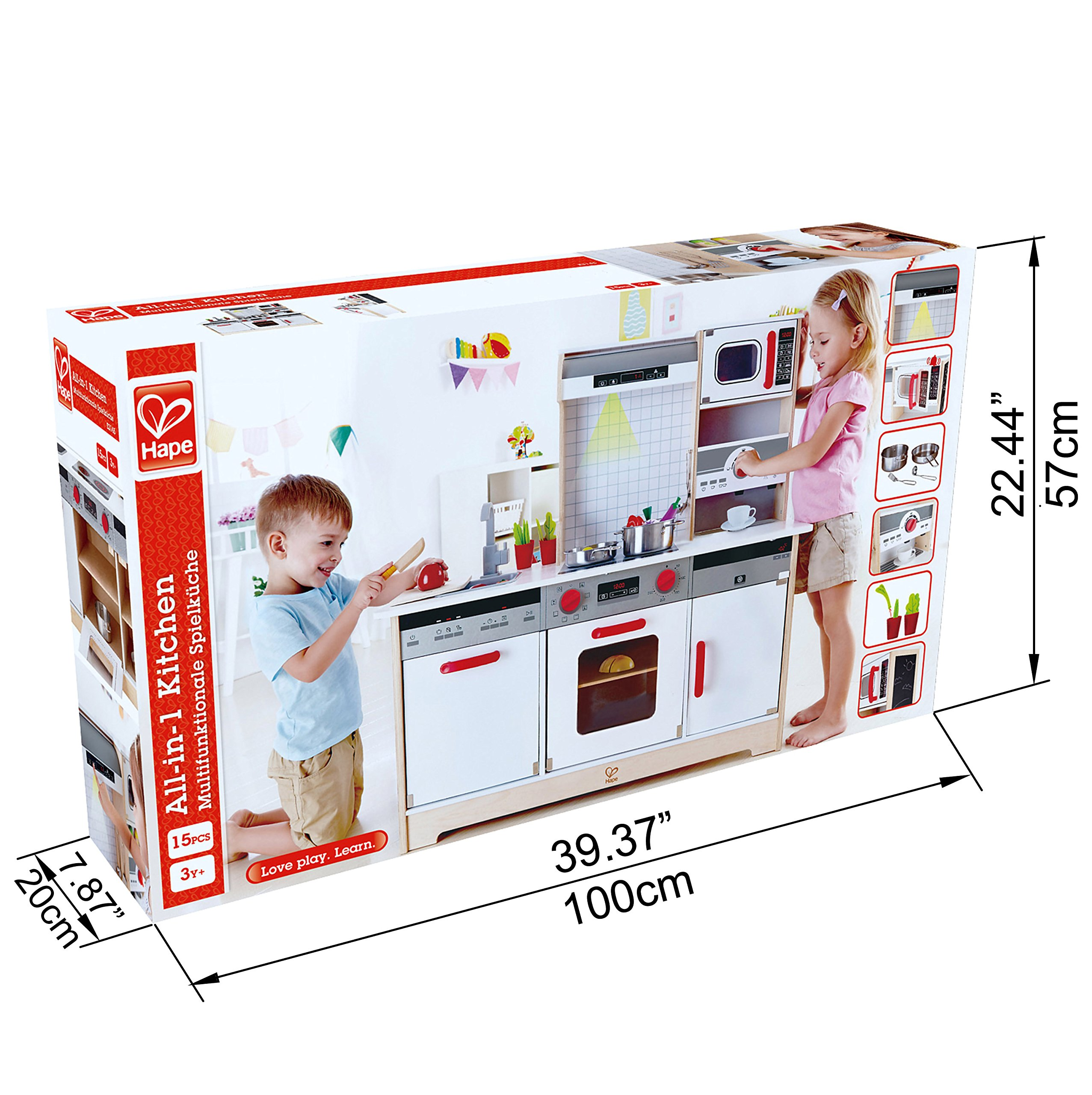 Hape Kids All-in-1 Wooden Play Kitchen with Accessories