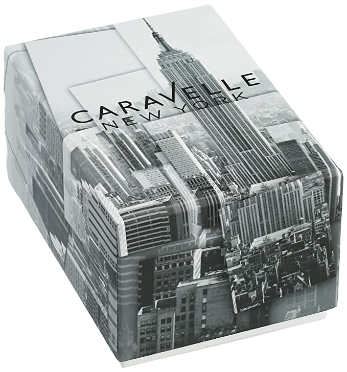 Amazon.com: Caravelle New York Mens Quartz Stainless Steel Dress Watch (Model: 45B141): Watches